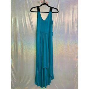 Double Zero | Teal High Low Maxi Dress